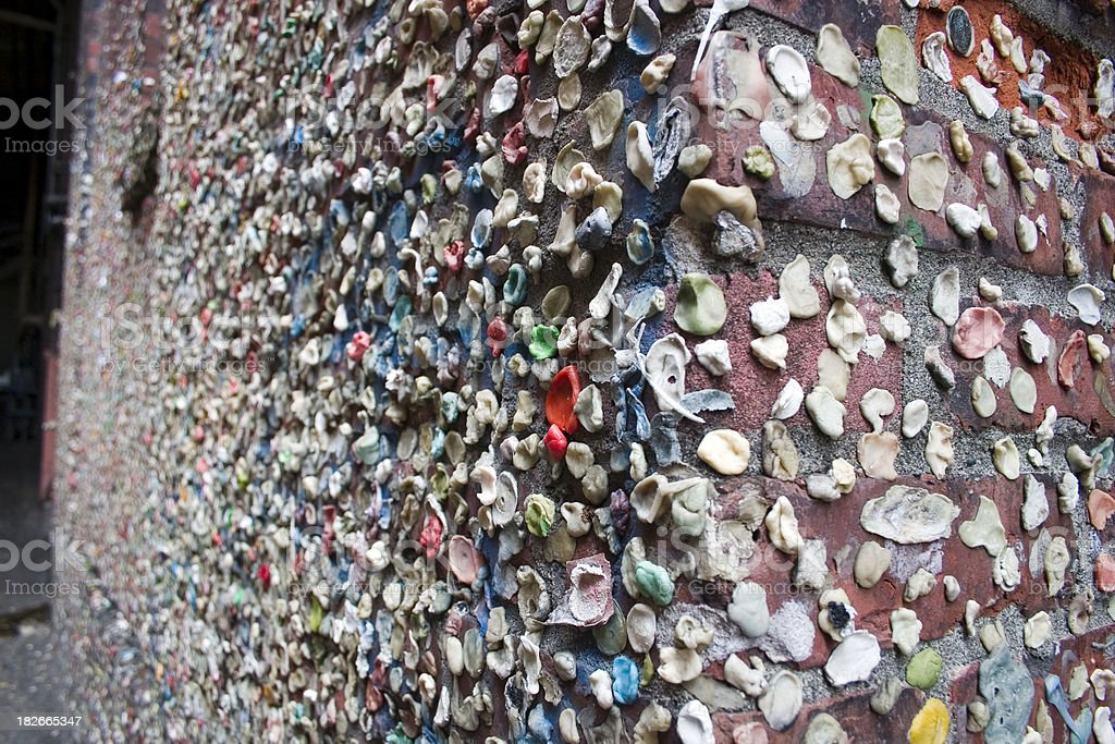 Post Alley Gum Wall in Seattle stock photo