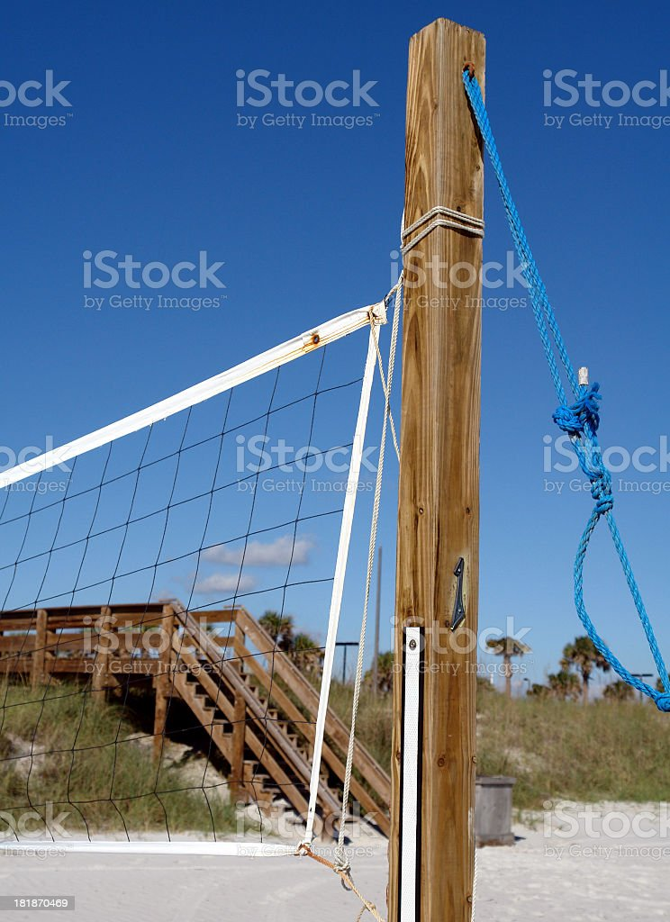 Post and Volleyball net royalty-free stock photo