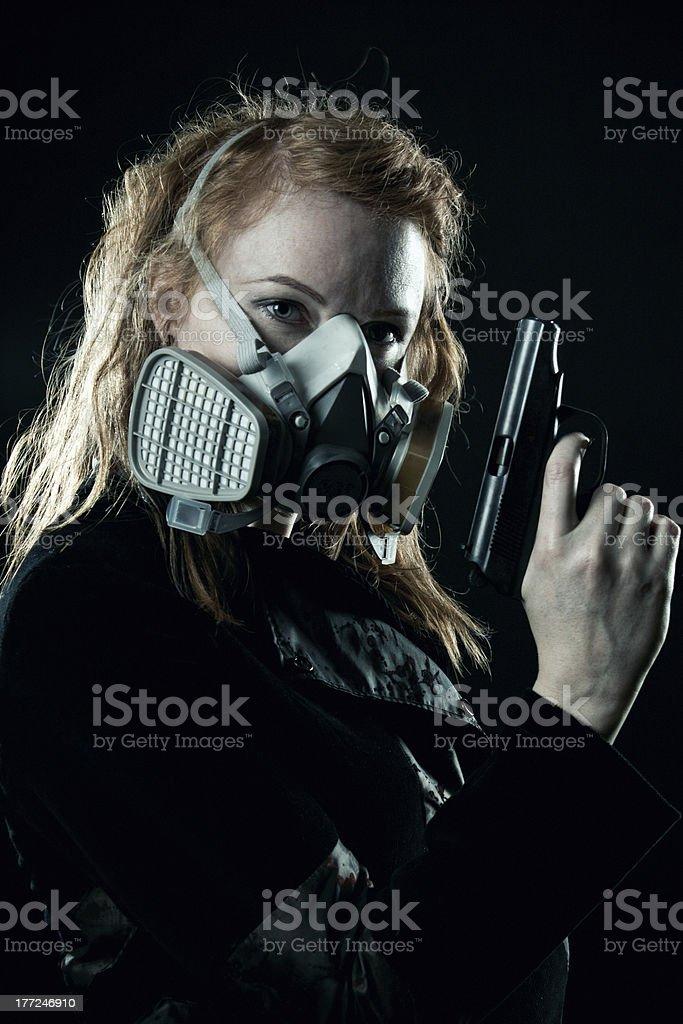 Post apocalypse wanderer royalty-free stock photo