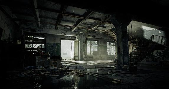 Post Apocalyptic Abandoned Interior