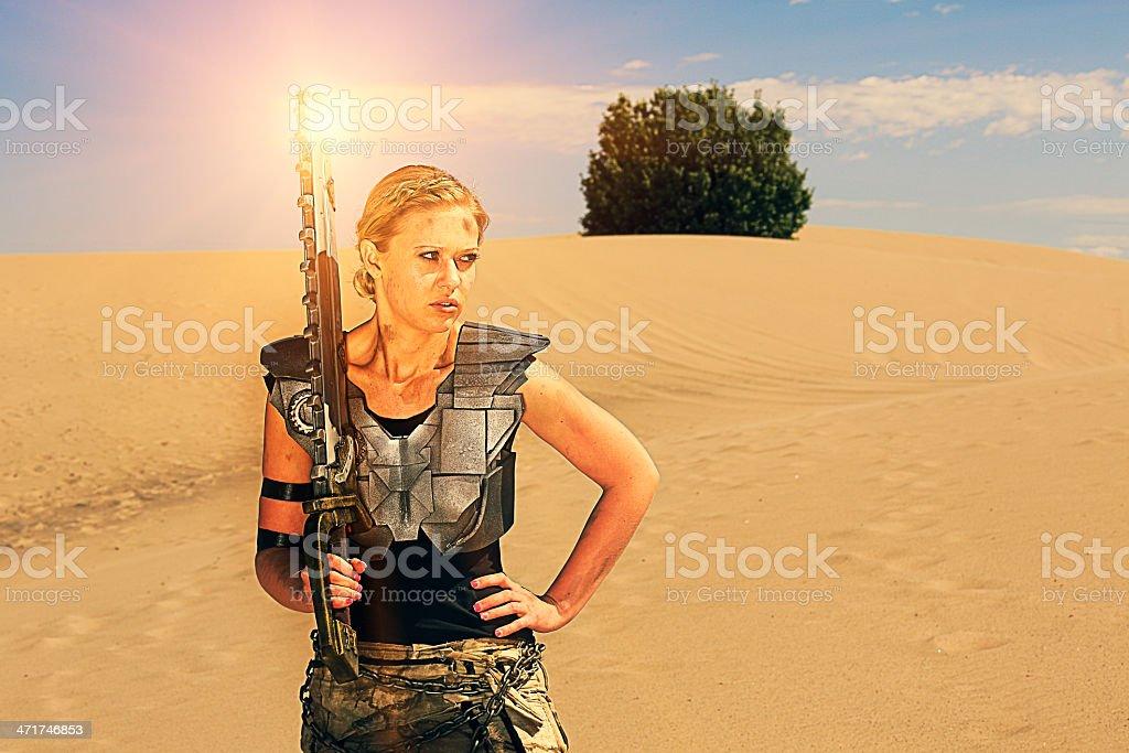 Post Apocalyptic Babe stock photo