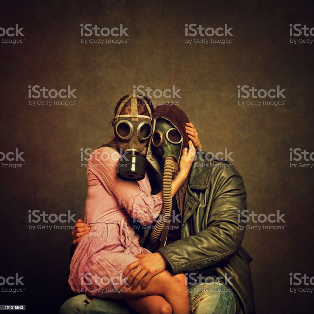 Post Apocalyptic Love royalty-free stock photo
