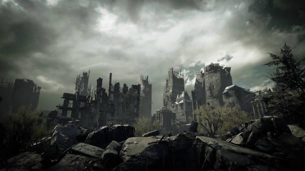 Post Apocalyptic Urban Landscape stock photo