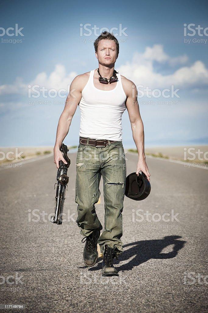 Post Apocalyptic Warrior stock photo