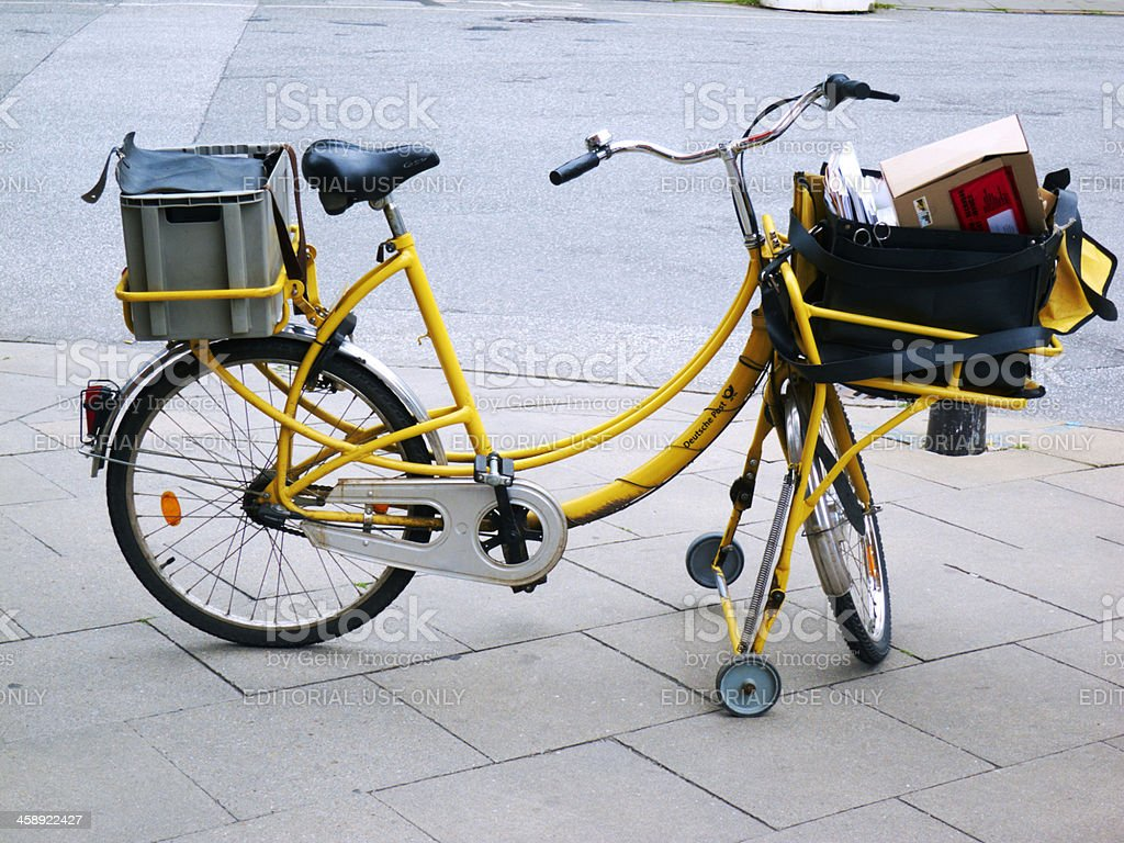 post bicycle stock photo