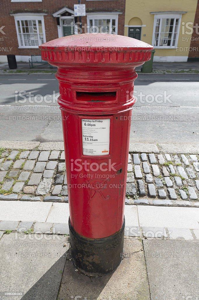 Post Box in Faversham, UK royalty-free stock photo