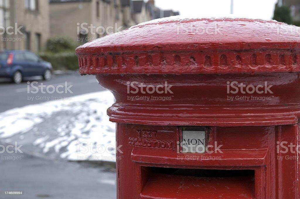 Post Box stock photo