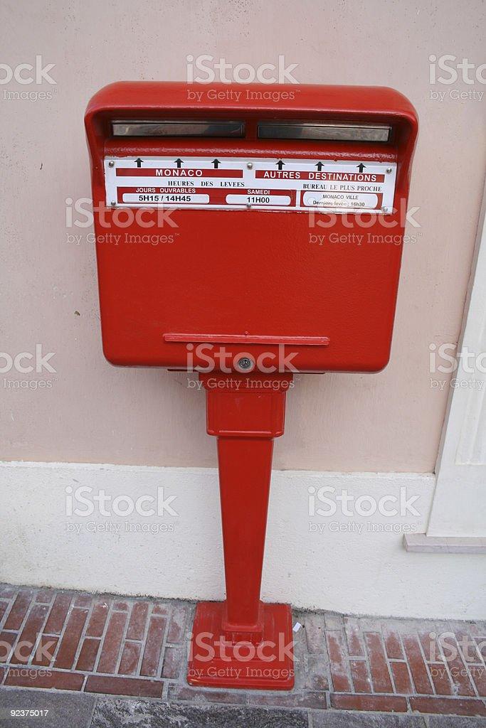 Post box - public mail in Monaco. royalty-free stock photo