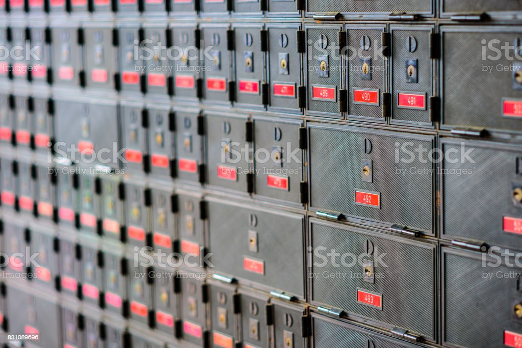 Post Boxes stock photo