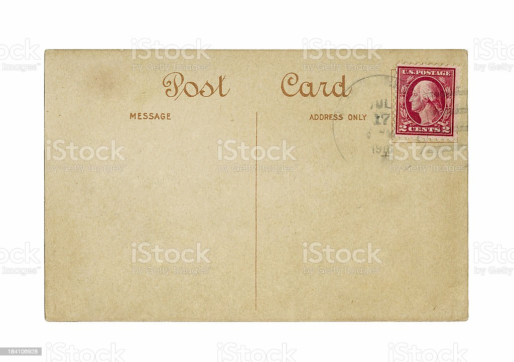 Post Card, 1918 stock photo