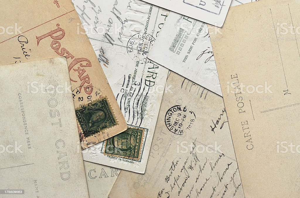 Post Card Collection royalty-free stock photo