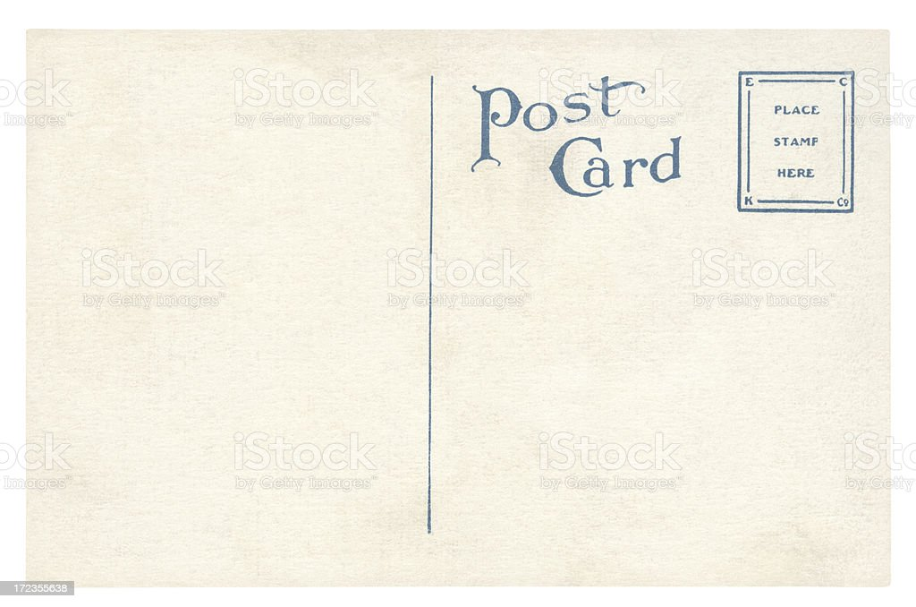 Post card isolated (clipping path included) royalty-free stock photo