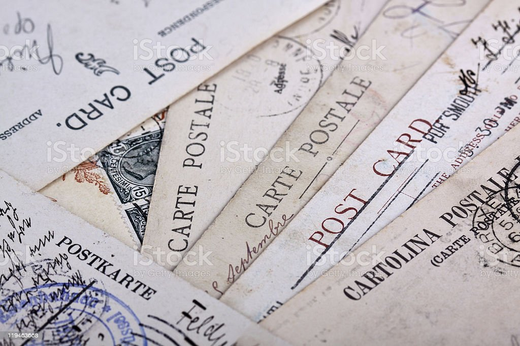 Post cards royalty-free stock photo