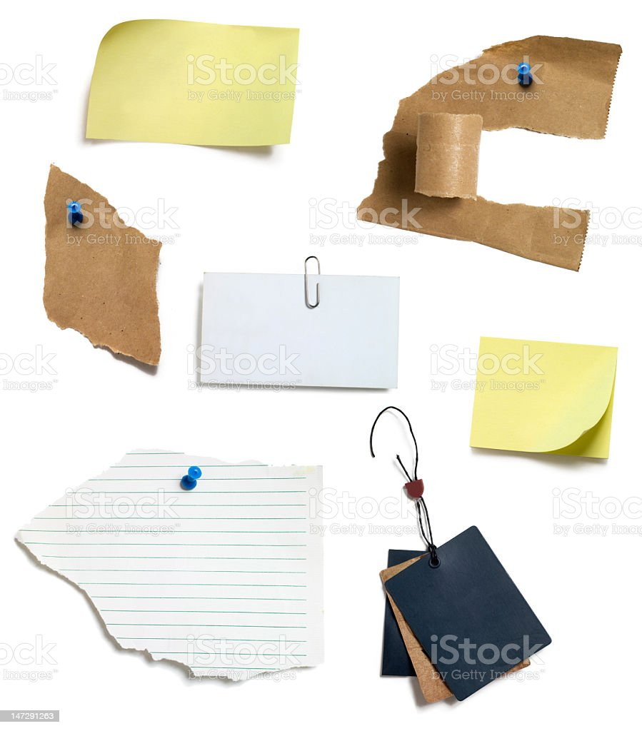 post it and paper tags royalty-free stock photo