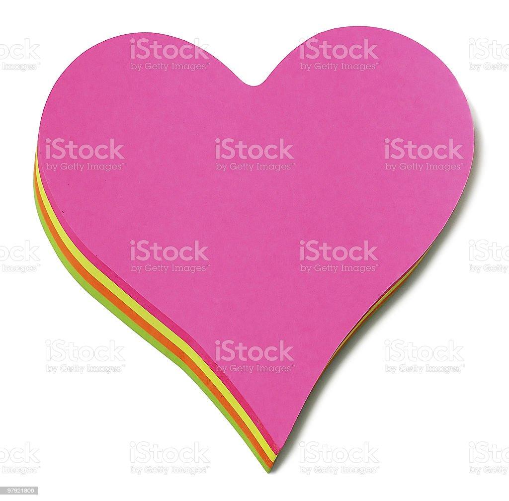 post it heart royalty-free stock photo