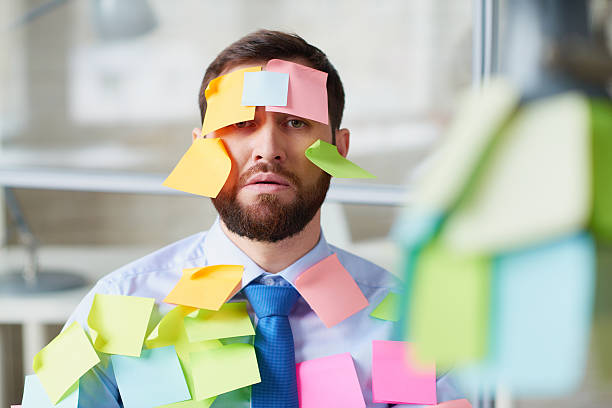 post it man - april fools stock photos and pictures