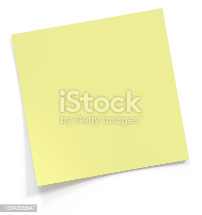 post it, paper, note, 3d, rendering, isolated