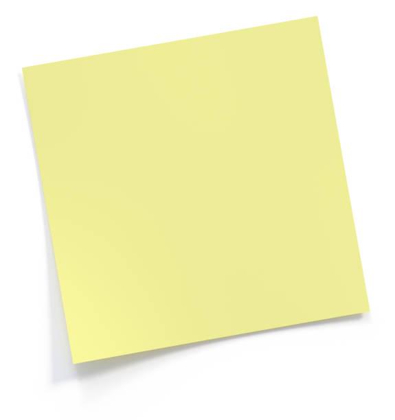 post it note 3d rendering - białe tło zdjęcia i obrazy z banku zdjęć