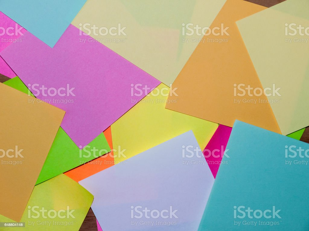 Post It Note Background stock photo
