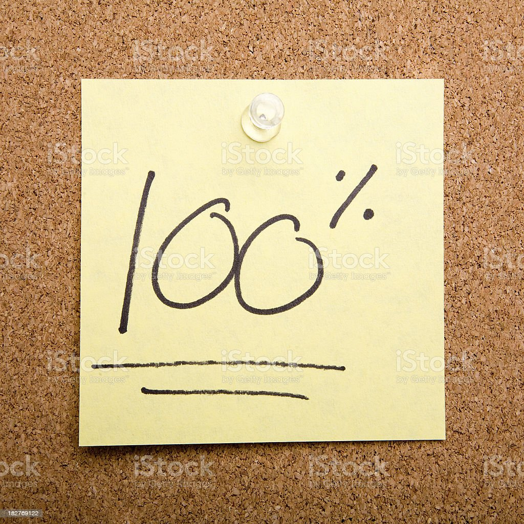 post it note on cork board 100% royalty-free stock photo