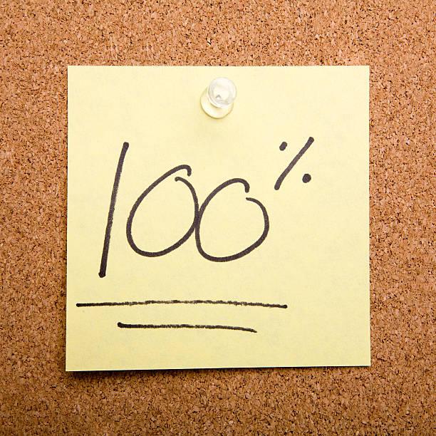 post-it-Zettel auf Kork-board 100% – Foto