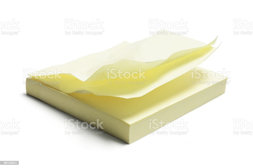 Post It Notepad royalty-free stock photo