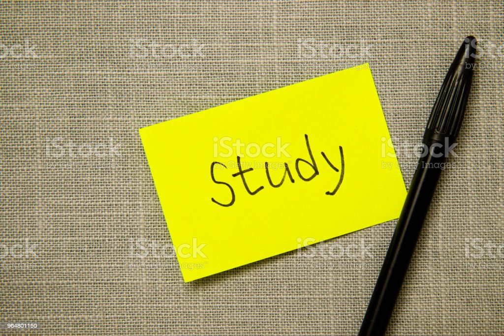 post it paper note in english royalty-free stock photo
