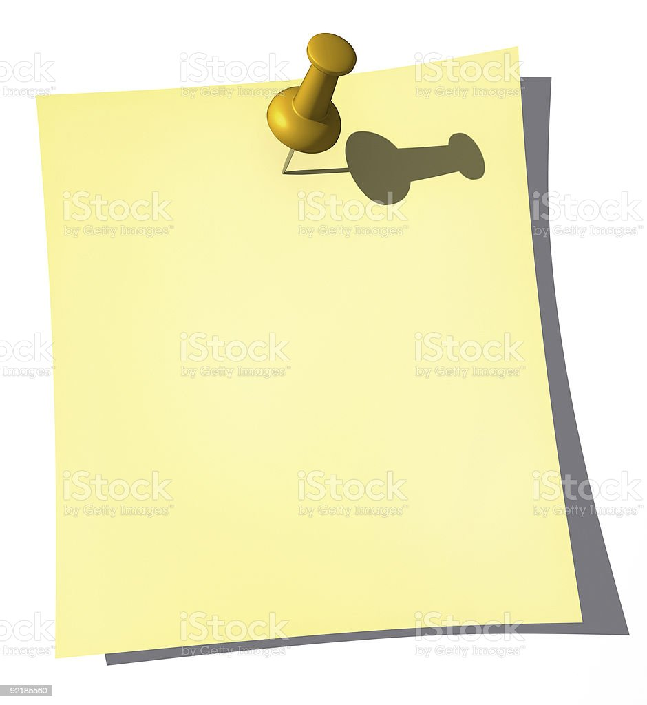 Post it (your message) stock photo