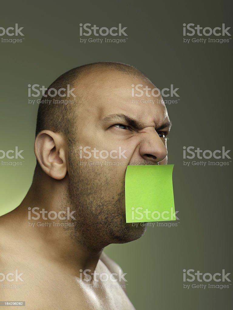 post-it urlando uomo foto stock royalty-free