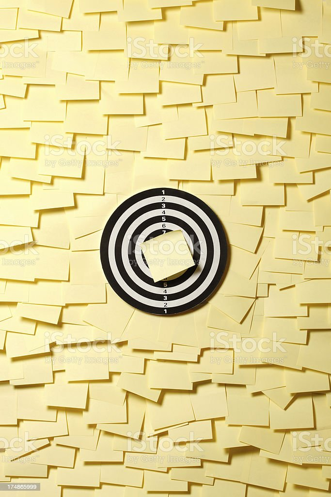 Post It Target Concept royalty-free stock photo