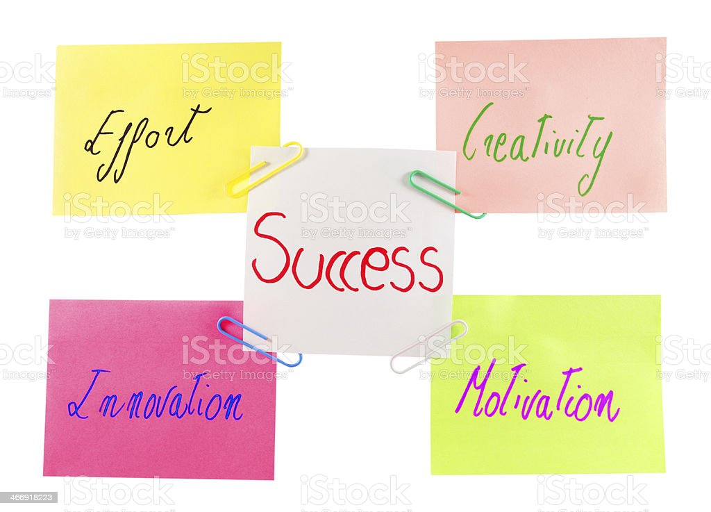 post it with motivational words royalty-free stock photo