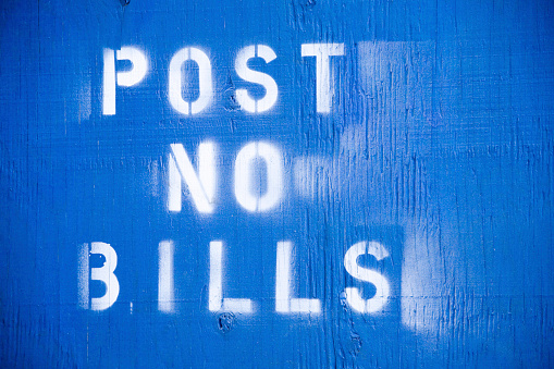 istock post no bills 91408148