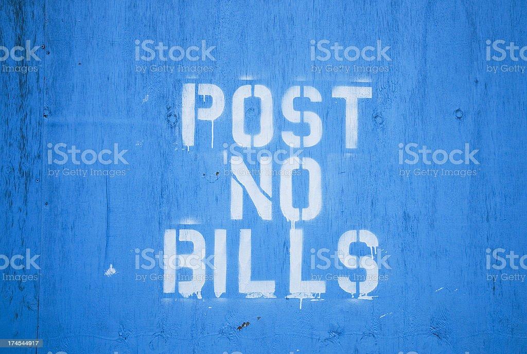 Post No Bills Sign royalty-free stock photo