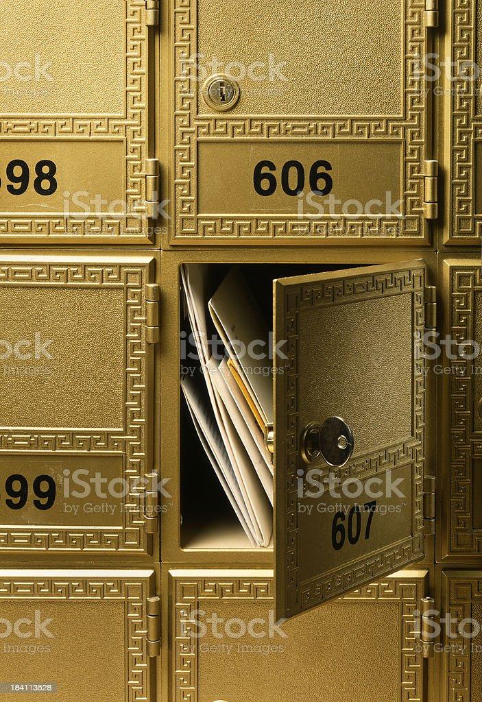 Post Office Box royalty-free stock photo
