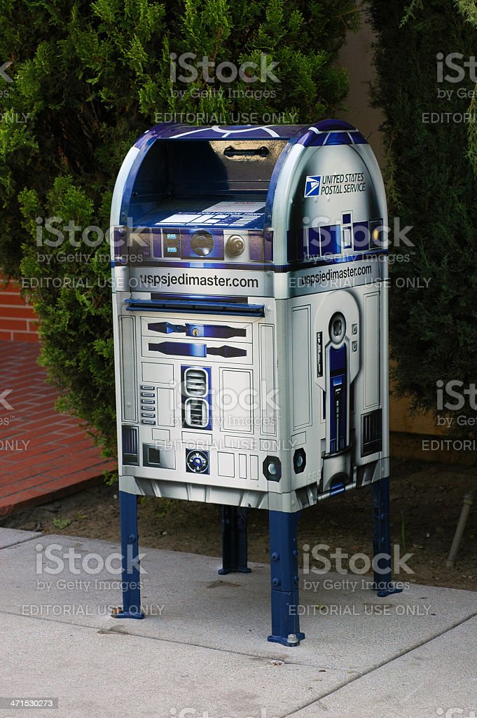 R2D2 post office box stock photo