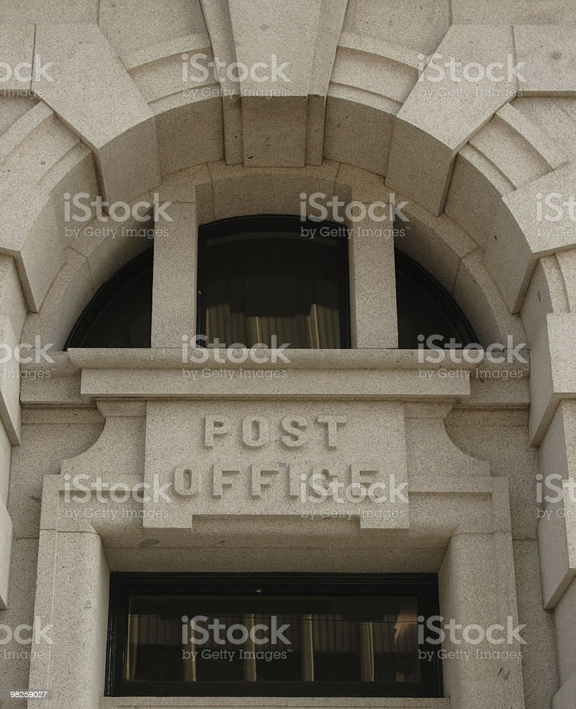 post office ingresso foto stock royalty-free