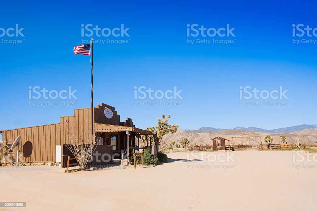 US post office in western Pioneer town stock photo