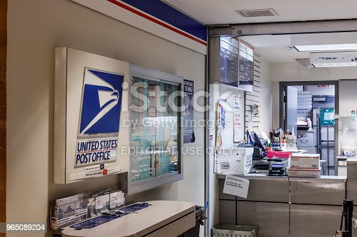 Chicago - Circa May 2018: USPS Post Office Location. The USPS is Responsible for Providing Mail Delivery I