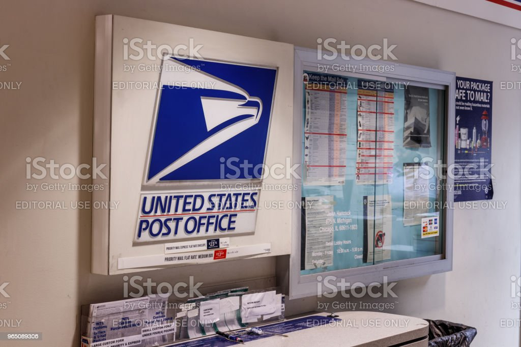USPS Post Office Location. The USPS is Responsible for Providing Mail Delivery II zbiór zdjęć royalty-free