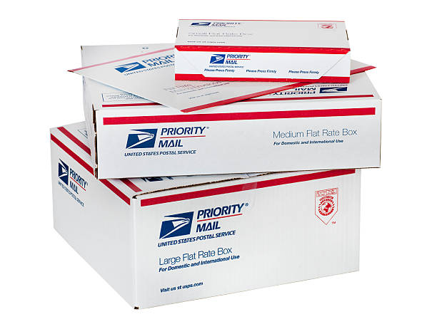 US Post Office Mailing Supplies stock photo