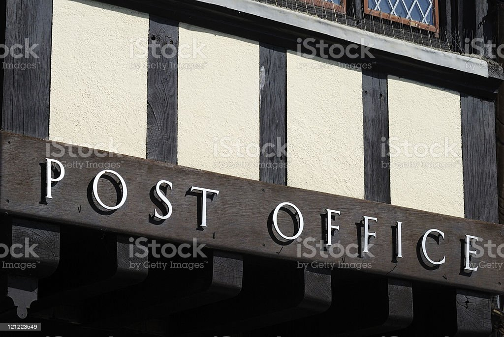 Post Office sign. Arundel. West Sussex. England royalty-free stock photo