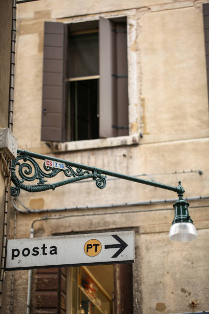 Post Office sign in a street of San Marco stock photo