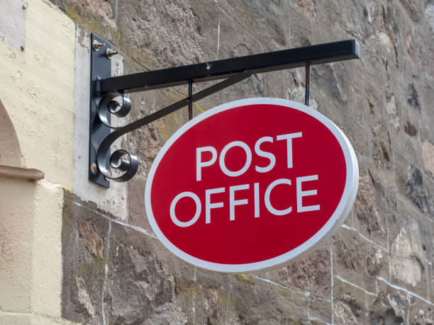Post Office Sign stock photo