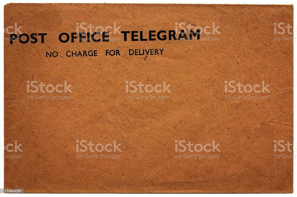 Post Office Telegram envelope royalty-free stock photo