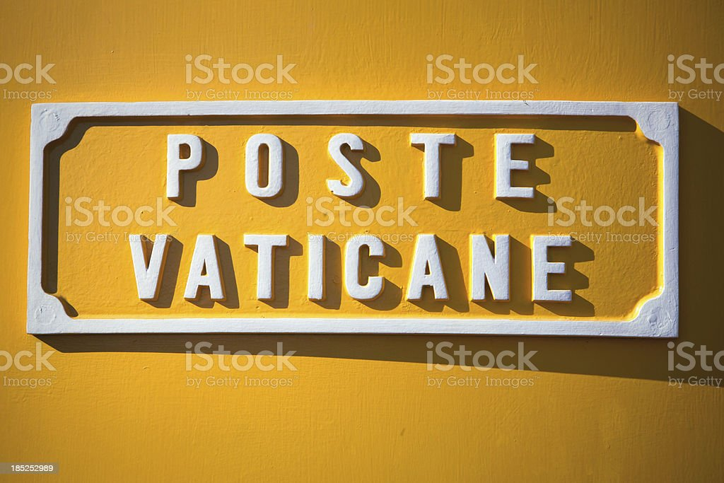 Post Office Vatican royalty-free stock photo