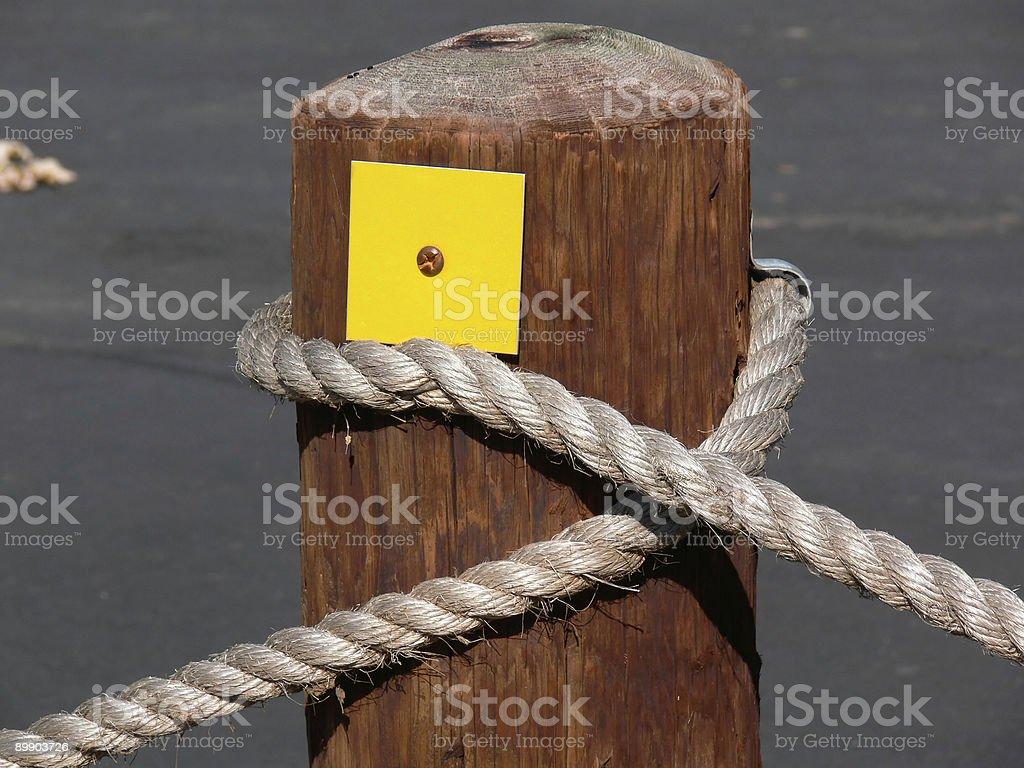 Post auf einem Seil Lizenzfreies stock-foto