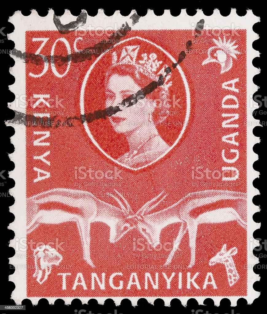 Post stamp from East Africa royalty-free stock photo