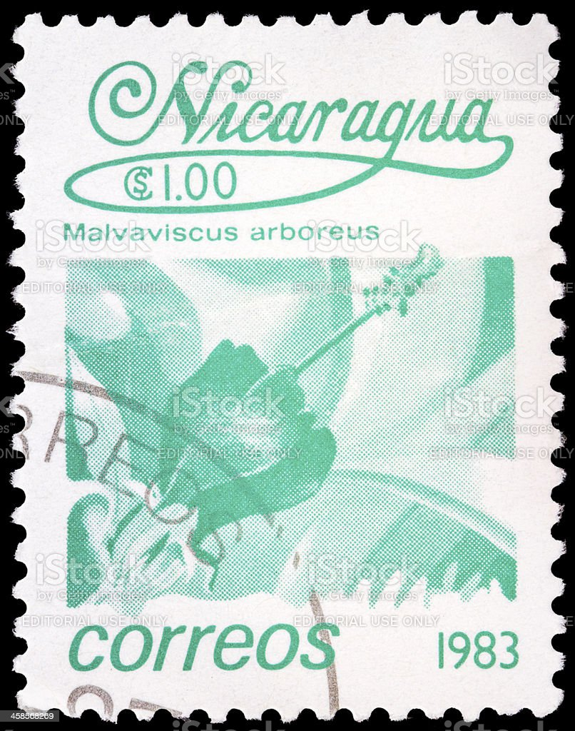 Post stamp from Nicaragua stock photo