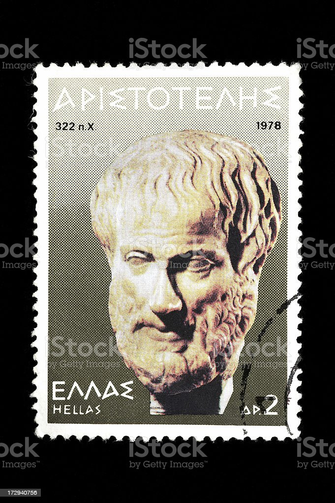 Post-Stempel mit Aristoteles – Foto