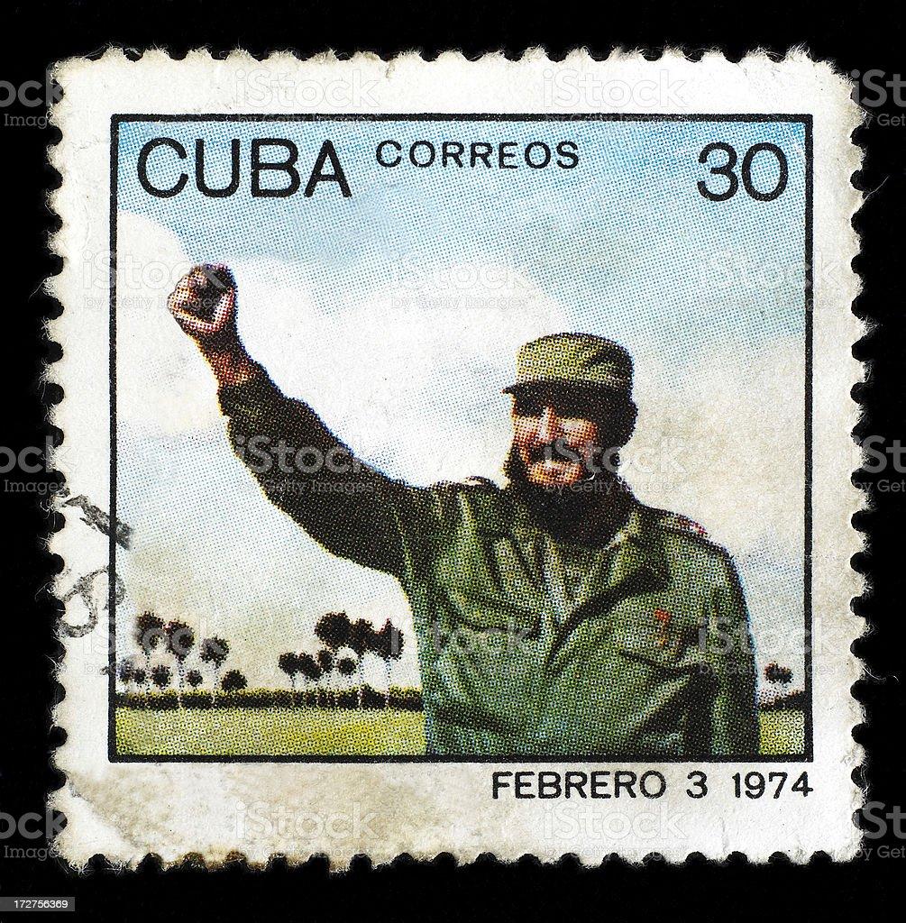 Post-Stempel mit Fidel Castro – Foto
